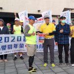 【盲人環台路跑】潮州火車站200名盲人路跑選手參加,屏東中正扶輪社領軍起跑